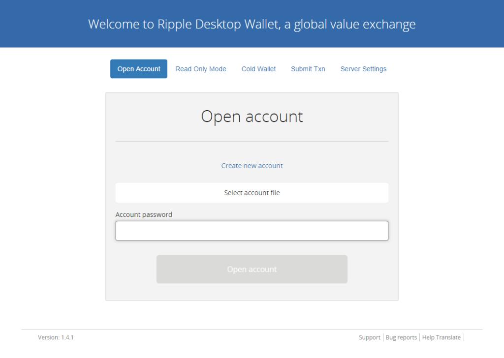 Rippex wallet login
