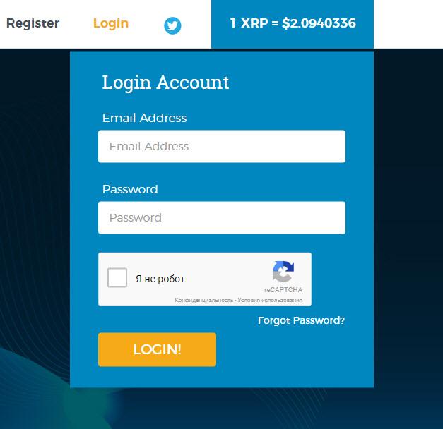 регистрация на https://coinfaucet.io