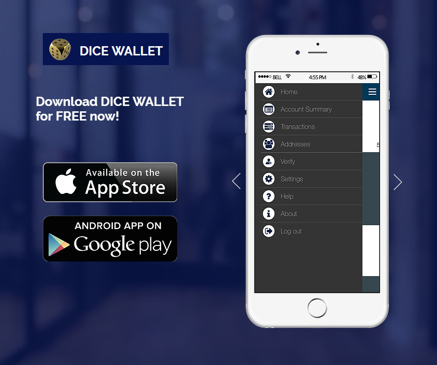 Dice Wallet ios android Ripple xrp