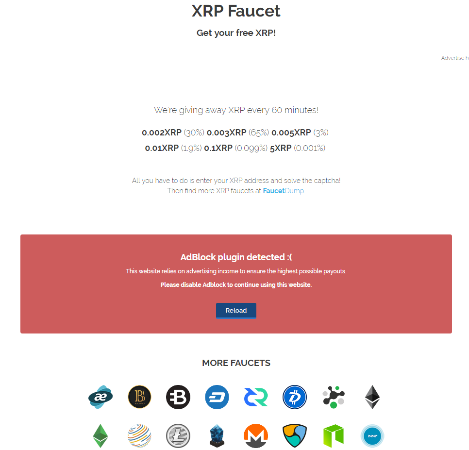 Кран XRP xrpfaucet.info